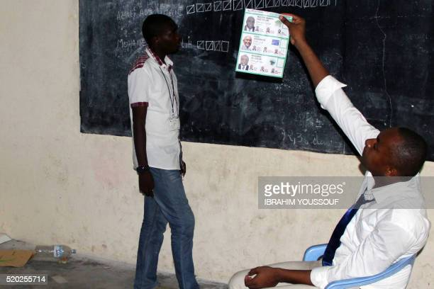 Officials count votes of the second turn of the second turn of the Comorian Presidential elections on April 10 2016 in Moroni The island nation of...