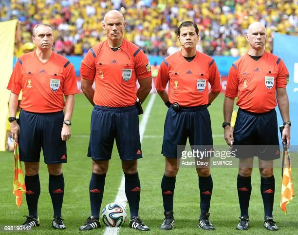 Officials Darren Cann Howard Webb Victor Hugo Carillo and Michael Mullarkey