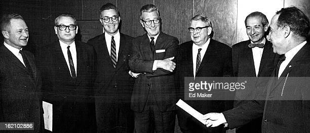 NOV 20 1964 Officials Discuss School For Judges At Institute On Criminal Law And Insanity From left are Dr Donald Hayes Russell director of the...