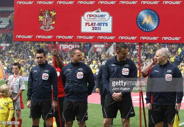 Officials for the League Two Play Off Final