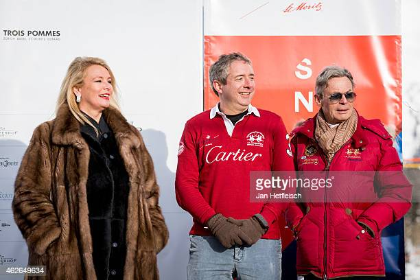 Officials of Cartier are seen at the the Snow Polo World Cup 2015 on February 1 2015 in St Moritz Switzerland