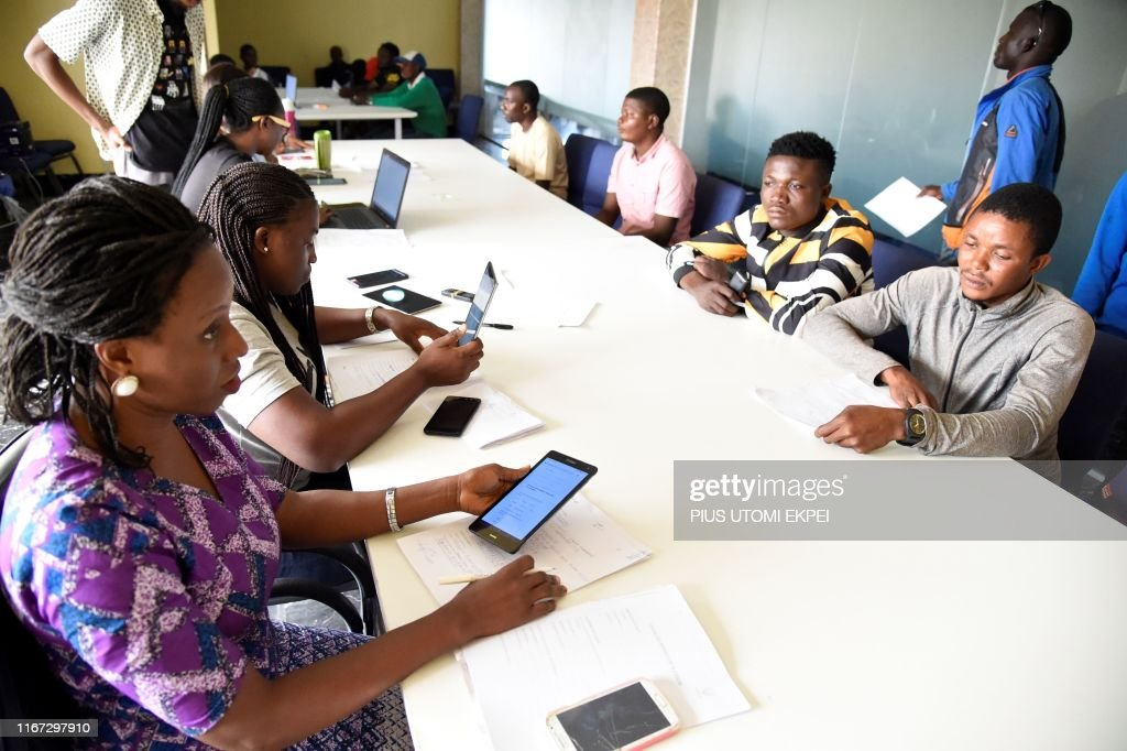 Officials Of Opay Interviews Prospective Riders At The Company News Photo Getty Images