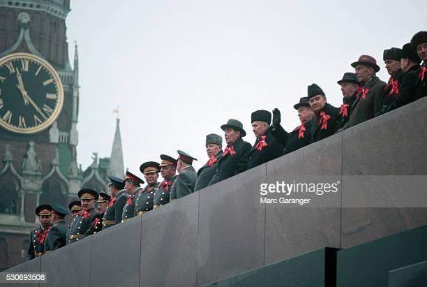 Officials Watch Revolution's Anniversary Parade