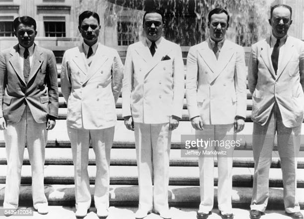 Officials W.R. Galvin, E.J. Connelley, Director J. Edgar Hoover, Clyde Tolson and Dwight Brantley participated in the apprehension of renowned...