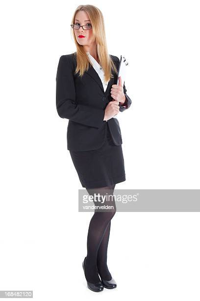 Officious Teenage Girl In A Suit