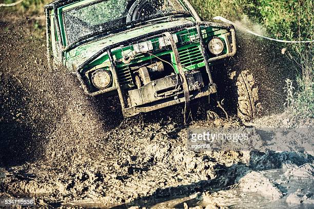 off-road 4x4 car race - rally car racing stock pictures, royalty-free photos & images