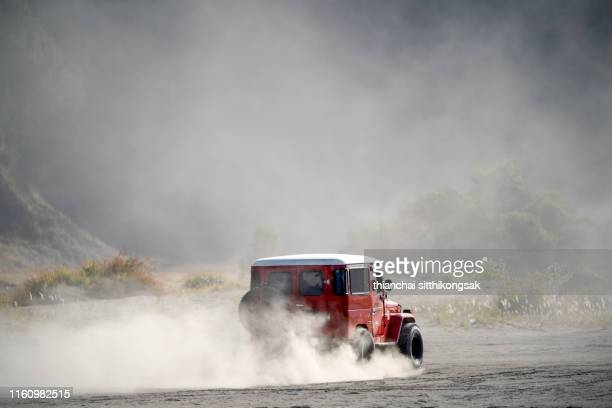off-road in bromo - dust stock pictures, royalty-free photos & images