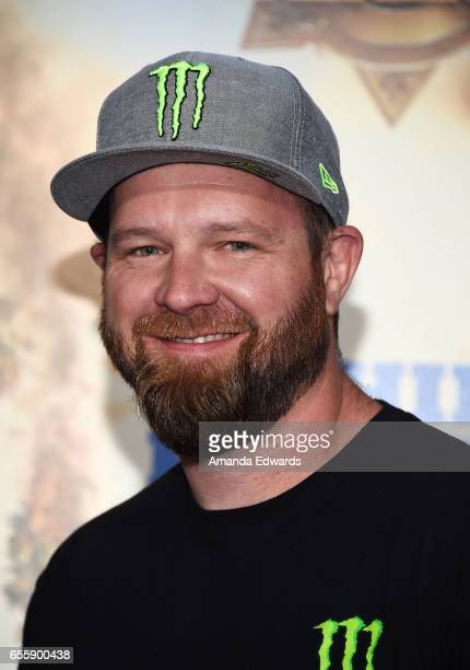 Offroad racer BJ Baldwin arrives at the premiere of Warner Bros Pictures' 'CHiPS' at the TCL Chinese Theatre on March 20 2017 in Hollywood California