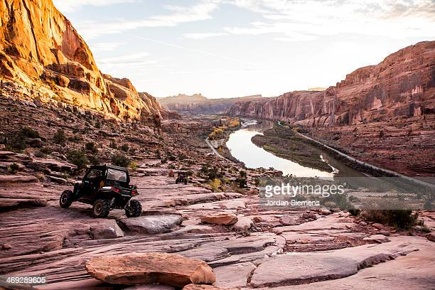 atv off-roading in moab - utah stock pictures, royalty-free photos & images
