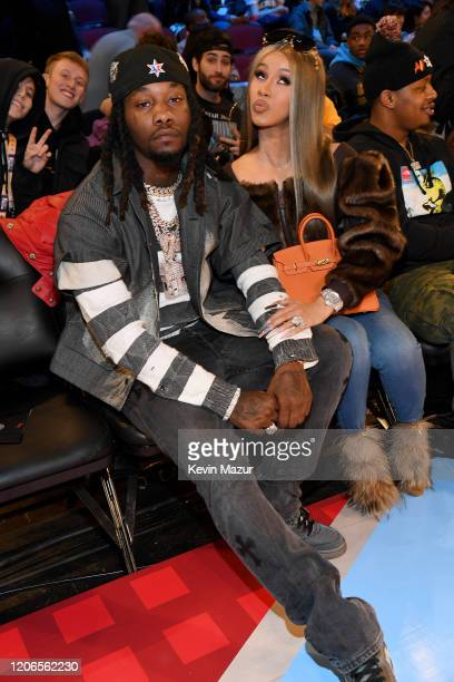 Offset and Cardi B attend 2020 State Farm All-Star Saturday Night at United Center on February 15, 2020 in Chicago, Illinois.