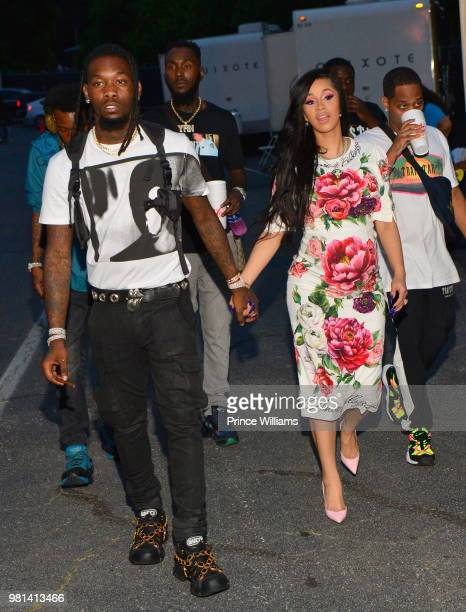 Offset and Cardi B attend Birthday Bash 2018 at Cellairis Amphitheatre at Lakewood on June 16 2018 in Atlanta Georgia