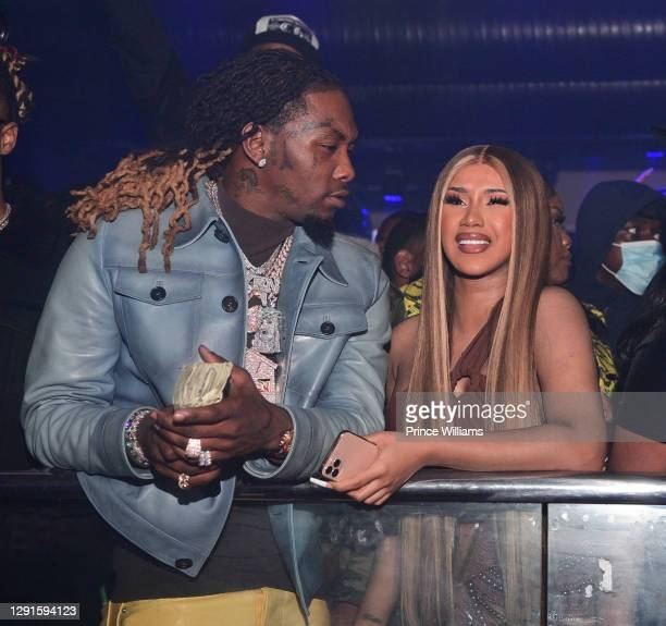 Offset and Cardi B attend Offset Birthday Celebration at Republic Lounge on December 14, 2020 in Atlanta, Georgia.