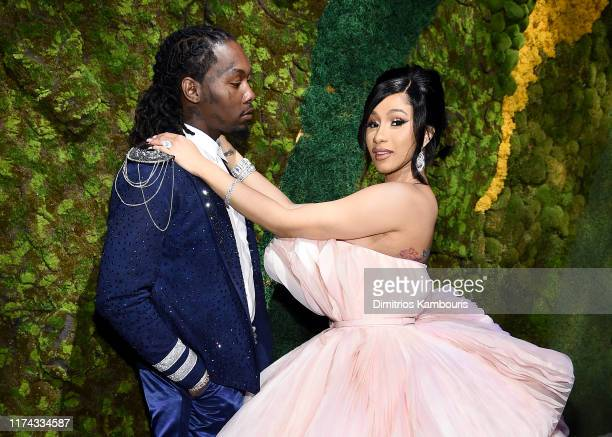 Offset and Cardi B attend Rihanna's 5th Annual Diamond Ball Benefitting The Clara Lionel Foundation at Cipriani Wall Street on September 12 2019 in...