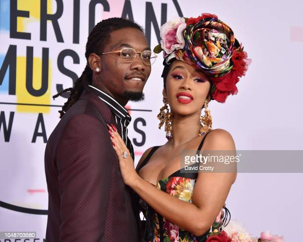 Offset and Cardi B attend the 2018 American Music Awards at Microsoft Theater on October 9 2018 in Los Angeles California