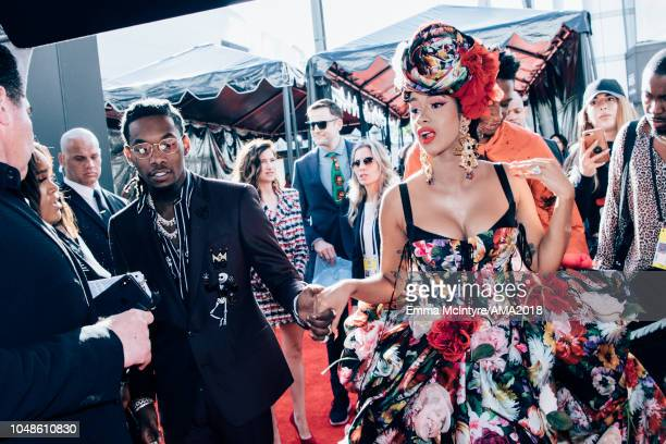 Offset and Cardi B attend the 2018 American Music Awards Microsoft Theater on October 9, 2018 in Los Angeles, California.