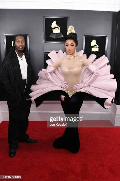 Offset and Cardi B attend the 61st Annual GRAMMY Awards at Staples Center on February 10 2019 in Los Angeles California