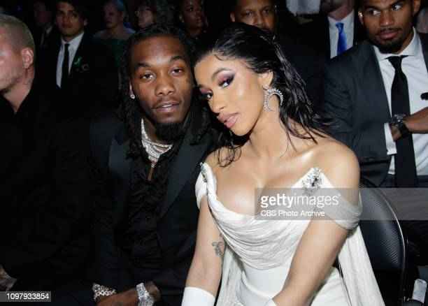 Offset and Cardi B attend THE 61ST ANNUAL GRAMMY AWARDS broadcast live from the STAPLES Center in Los Angeles Sunday Feb 10 on the CBS Television...