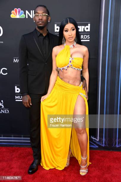 Offset and Cardi B attends the 2019 Billboard Music Awards at MGM Grand Garden Arena on May 01 2019 in Las Vegas Nevada