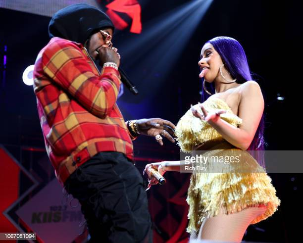 Offset and Cardi B perform onstage during 1027 KIIS FM's Jingle Ball 2018 Presented by Capital One at The Forum on November 30 2018 in Inglewood...