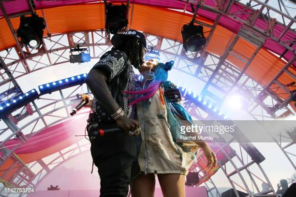 Offset and Cardi B perform onstage during #REVOLVEfestival Day 2 at Merv Griffin Estate on April 14 2019 in La Quinta California