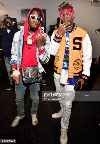 Offset and Lil Yachty attend the Migos In Concert at Center Stage on January 28 2017 in Atlanta Georgia