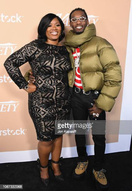 Offset and mother Latabia Woodward attend Variety's 2nd Annual Hitmakers Brunch at Sunset Tower on December 1 2018 in Los Angeles California
