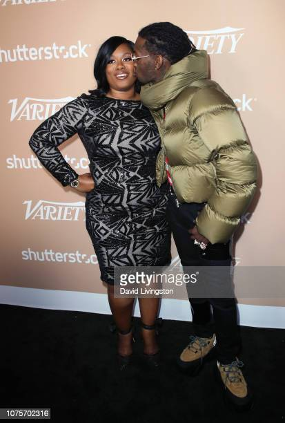 Offset and mother Latabia Woodward attend Variety's 2nd Annual Hitmakers Brunch at Sunset Tower on December 01 2018 in Los Angeles California