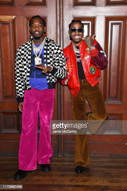 Offset and Quavo attend the Marc Jacobs Spring 2020 Runway Show at Park Avenue Armory on September 11 2019 in New York City