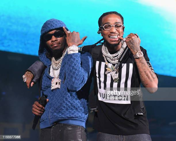 Offset and Quavo of Migos perform at Summer Jam 2019 at MetLife Stadium on June 02, 2019 in East Rutherford, New Jersey.