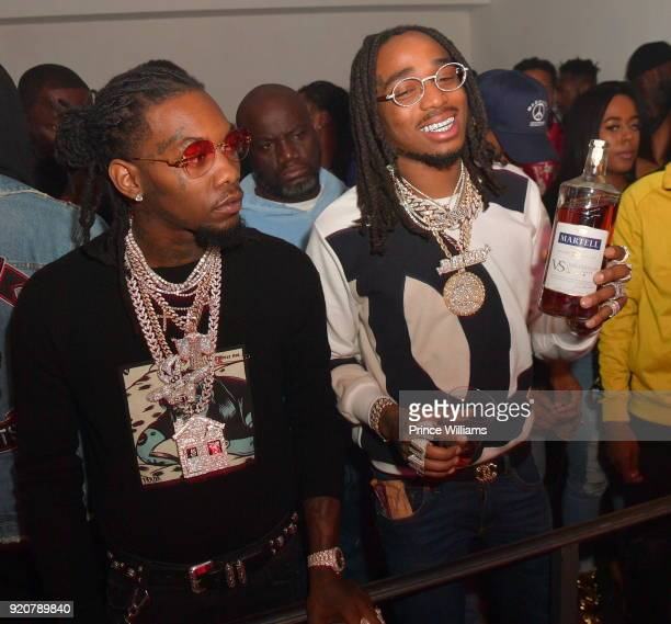 Offset and Quavo of The Group Migos attend All Star weekend Migos Album Release Party at Boulevard3 on February 19 2018 in Hollywood California