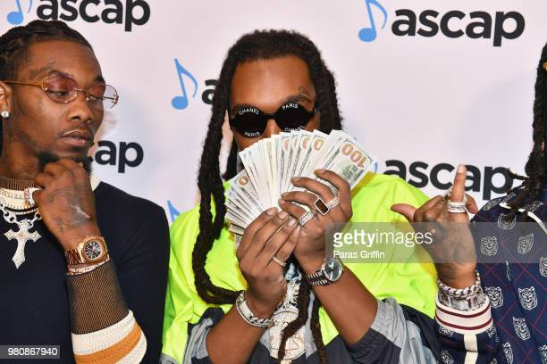 Offset and Takeoff of Migos attend the 31st Annual ASCAP Rhythm Soul Music Awards at the Beverly Wilshire Four Seasons Hotel on June 21 2018 in...