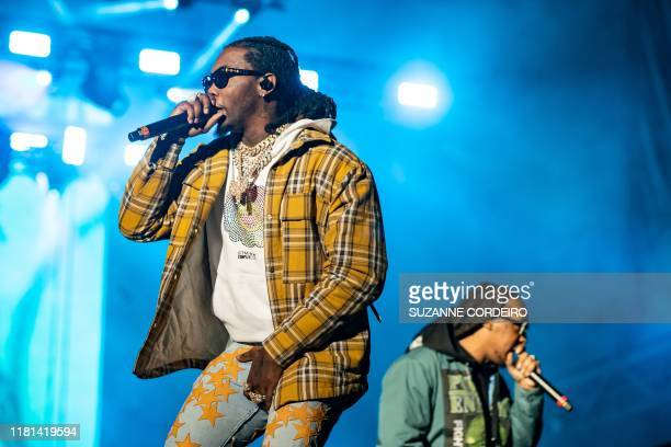 Offset and Takeoff of the Group Migos perform during the Astroworld Festival at NRG Stadium on November 9 2019 in Houston Texas