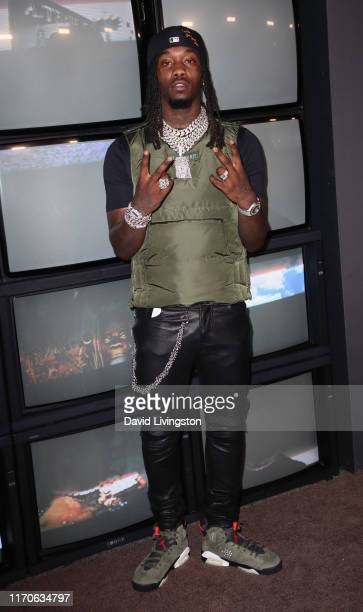 Offset attends the premiere of Netflix's Travis Scott Look Mom I Can Fly at Barker Hangar on August 27 2019 in Santa Monica California