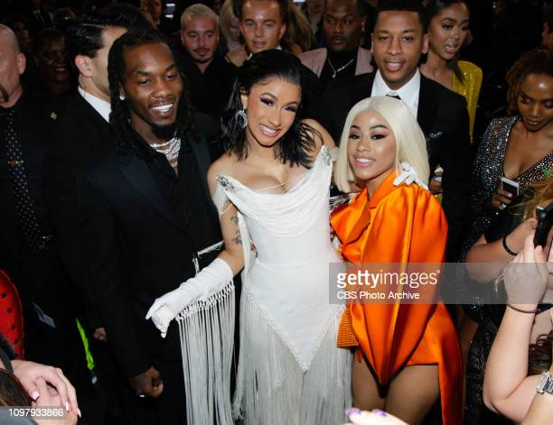 Offset Cardi B and Hennessy Carolina attend THE 61ST ANNUAL GRAMMY AWARDS broadcast live from the STAPLES Center in Los Angeles Sunday Feb 10 on the...