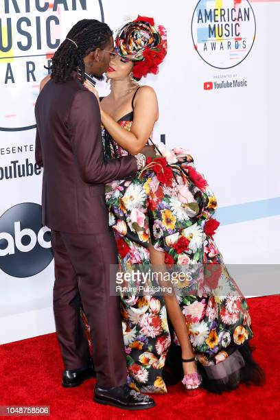 Offset Cardi B photographed on the red carpet of the 2018 American Music Awards at the Microsoft Theater on October 9 2018 in Los Angeles USA