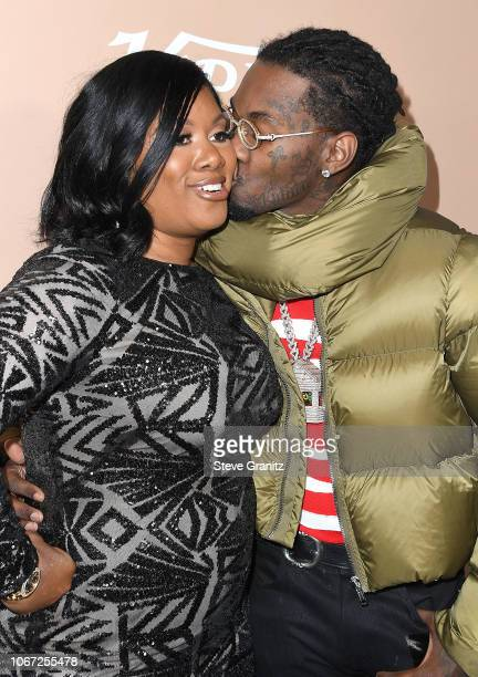 Offset Kiari Kendrell Cephus and Mom arrives at the Variety's 2nd Annual Hitmakers Brunch at Sunset Tower on December 1 2018 in Los Angeles California