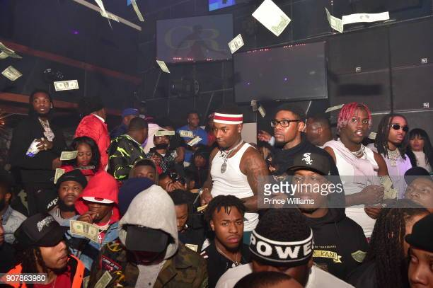 Offset Lil Marlo Lil Yachty and Quavo attend 'No Cap' Tuesday The Biggest Party Of The Year at Gold Room on January 16 2018 in Atlanta Georgia