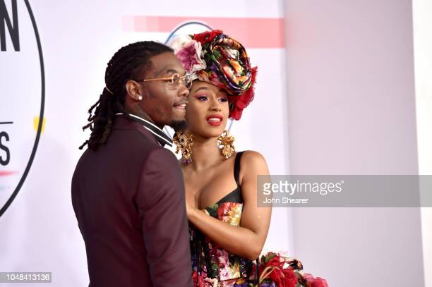 Offset of Migos and Cardi B attend the 2018 American Music Awards at Microsoft Theater on October 9 2018 in Los Angeles California
