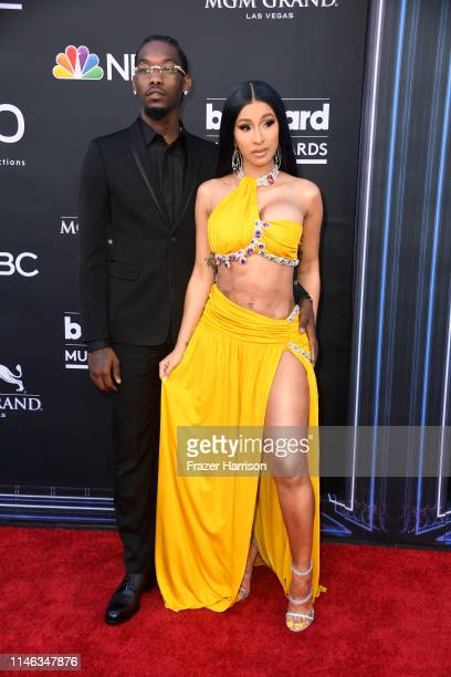 Offset of Migos and Cardi B attend the 2019 Billboard Music Awards at MGM Grand Garden Arena on May 01 2019 in Las Vegas Nevada