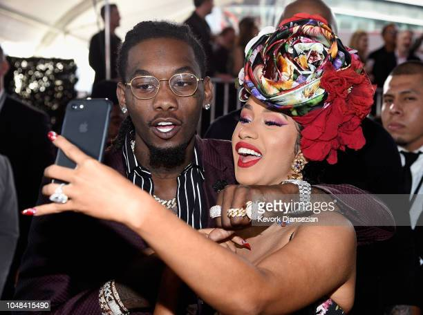 Offset of Migos and Cardi B attends the 2018 American Music Awards at Microsoft Theater on October 9 2018 in Los Angeles California