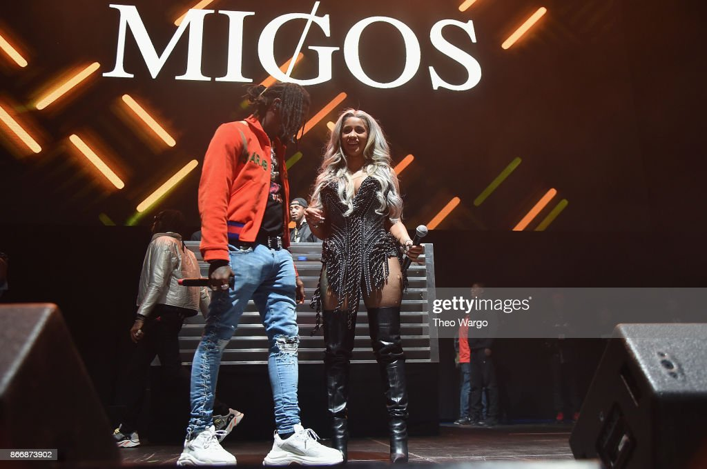 Offset of Migos and Cardi B perform onstage during 105.1's Powerhouse 2017 at the Barclays Center on October 26, 2017 in the Brooklyn, New York City City.