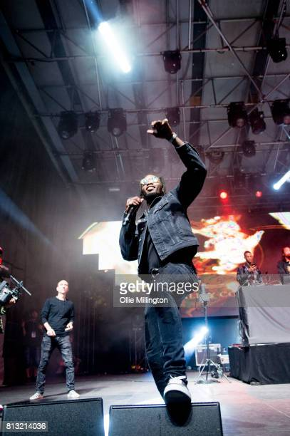 Offset of Migos performs a headline show on the Lotto Stage in the Parc de la Francophonie during Day 6 of the 50th Festival d'ete de Quebec on July...