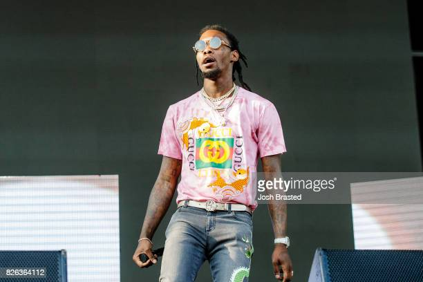 Offset of Migos performs during Lollapalooza 2017 at Grant Park on August 3 2017 in Chicago Illinois
