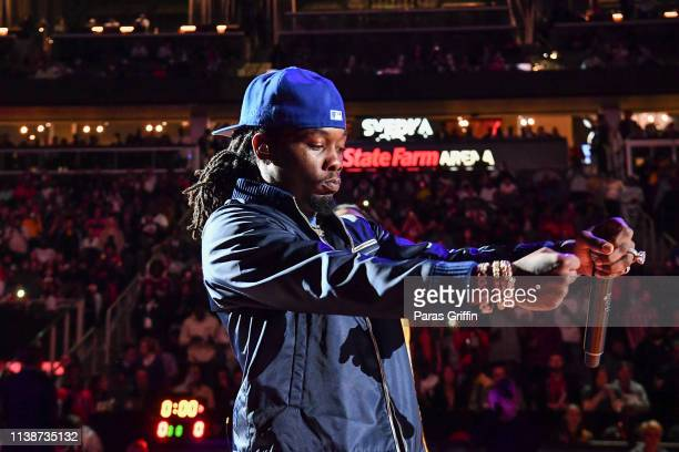 Offset of Migos performs during the 42nd Annual McDonald's All American Games at State Farm Arena on March 27 2019 in Atlanta Georgia