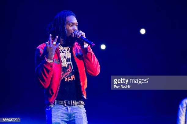 Offset of Migos performs on stage during the Power 1051's Powerhouse 2017 at Barclays Center of Brooklyn on October 26 2017 in New York City