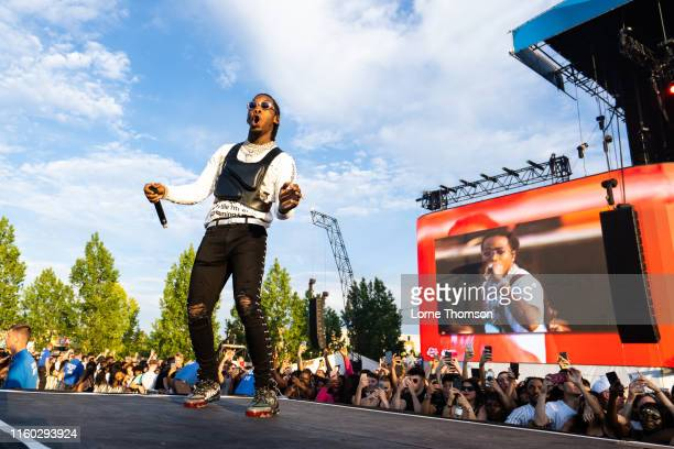 Offset of Migos performs on stage during Wireless Festival 2019 on July 05 2019 in London England