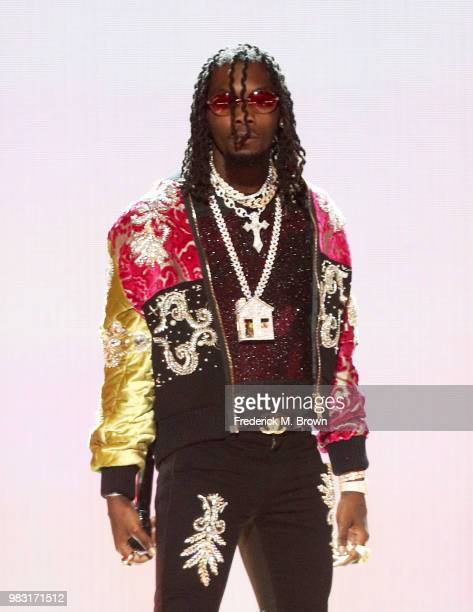 Offset of Migos performs onstage at the 2018 BET Awards at Microsoft Theater on June 24 2018 in Los Angeles California