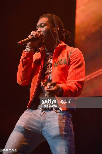 Offset of Migos performs onstage during 1051's Powerhouse 2017 at the Barclays Center on October 26 2017 in the Brooklyn New York City City