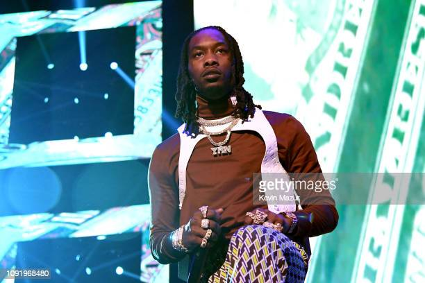 Offset of Migos performs onstage during Bud Light Super Bowl Music Fest / EA SPORTS BOWL at State Farm Arena on January 31 2019 in Atlanta Georgia