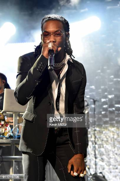 Offset of Migos performs onstage during the Clive Davis and Recording Academy PreGRAMMY Gala and GRAMMY Salute to Industry Icons Honoring JayZ on...